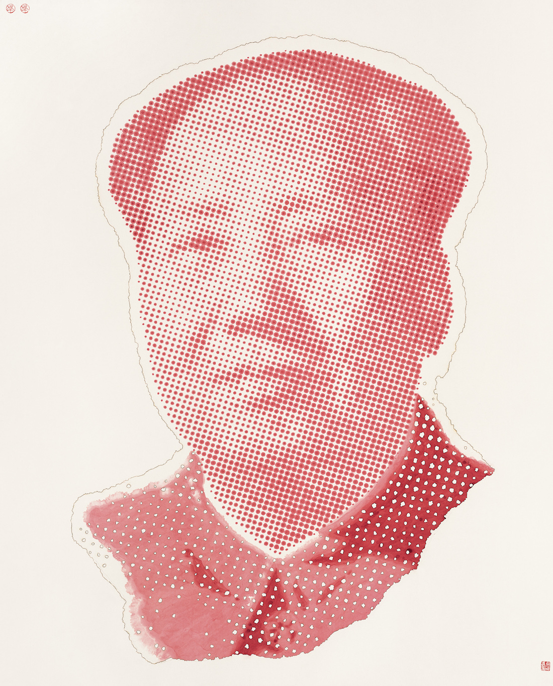 Red Portrait of Chairman Mao (红色毛主席像)