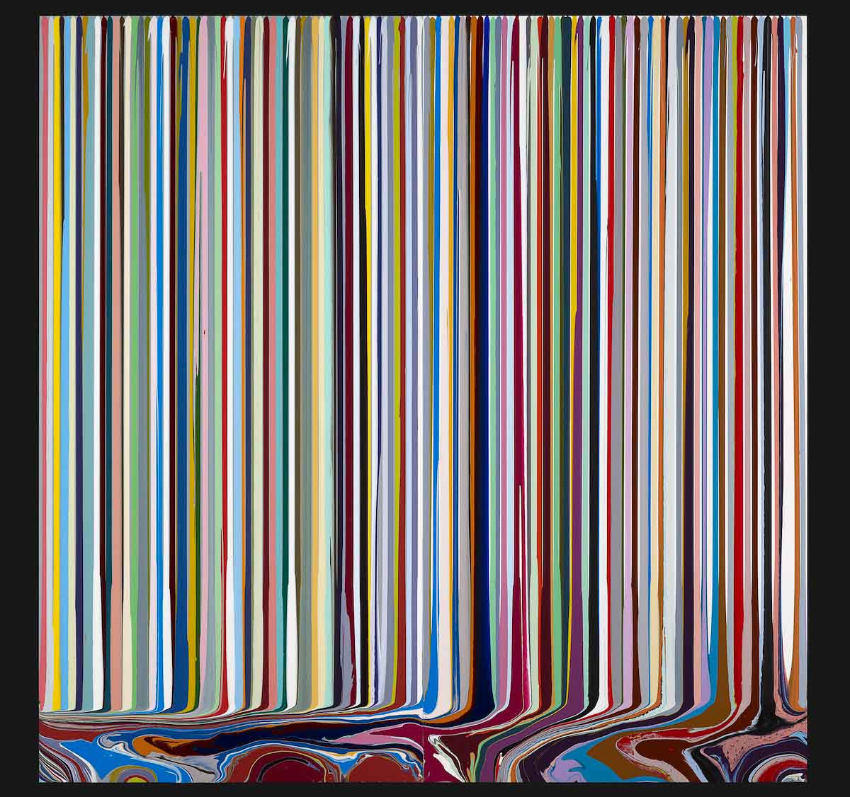Ian Davenport | Puddle Painting Stanza