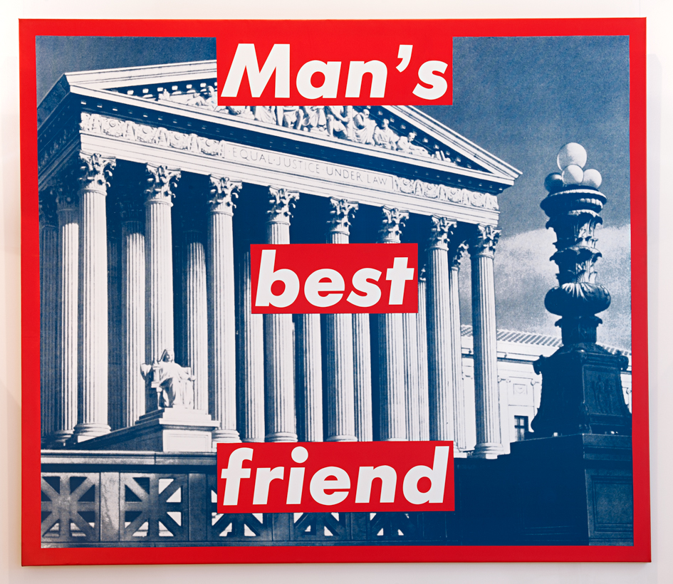 "BARBARA KRUGER ""Man's best friend"", 1987"
