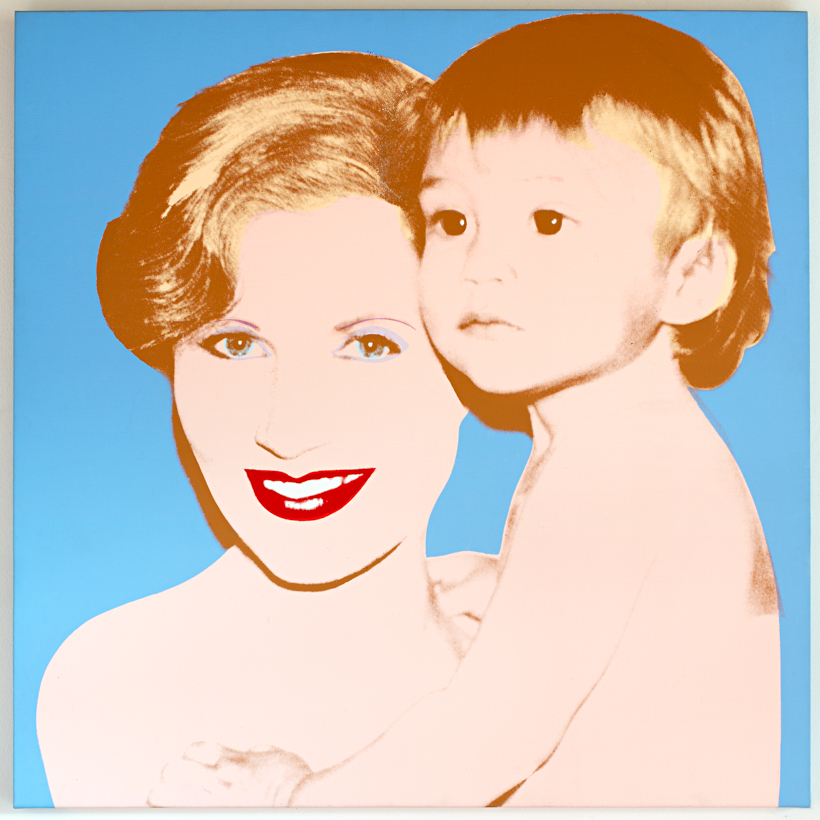 Portrait of Suzanne and her son Marc Syz by Andy Warhol