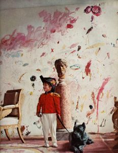 Alessandro Twombly in front of 'The Triumph of Galatea' Rome, 1963. Photographed by Horst for Vogue